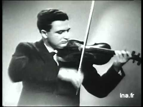 Salvatore Accardo, violin. Archival footage 1960 - Debussy Minstrels