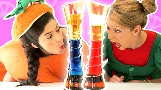 فوزي موزي وتوتي | DIY مع المندلينا | بُرج الألوان |  Tower of colors