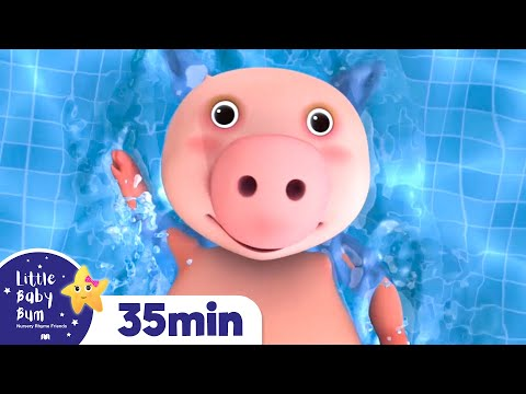 Learn How to Swim | + More Nursery Rhymes & Kids Songs | Songs for Kids | Little Baby Bum