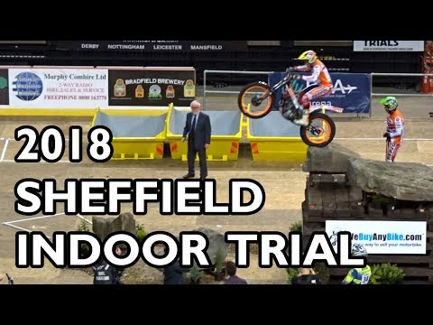 Sheffield Indoor Motorbike Trial 2018 - BEST BITS