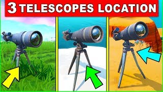 Dance at Different Telescopes – ALL 3 LOCATIONS (STORM RACERS CHALLENGES FORTNITE)