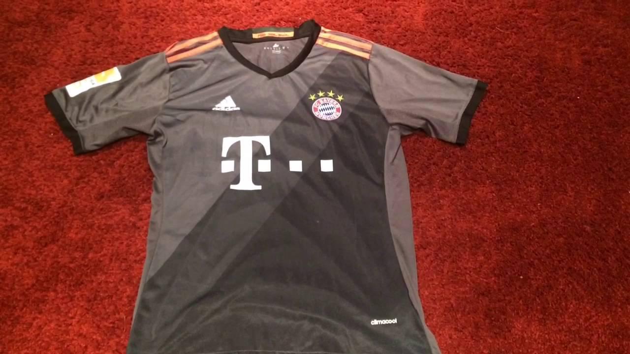 9626119a0dd Bayern Munich Away 2016/17 Jersey Review - YouTube