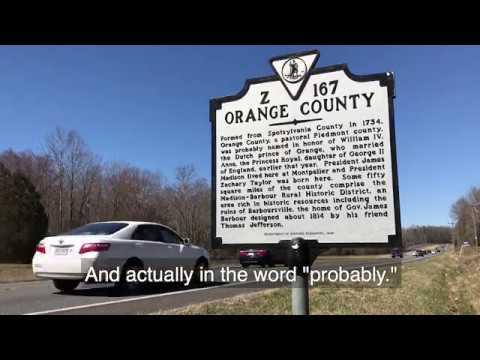 Historic ties with Orange County, Virginia