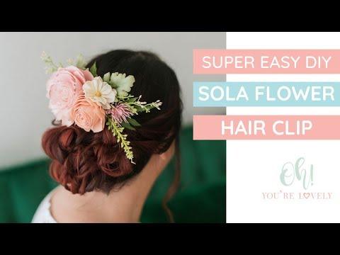Hair Clip Tutorial using sola wood flowers or fake flowers