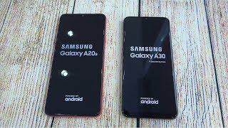 Samsung Galaxy A20s vs Samsung Galaxy A30   Speed test and Camera comparison