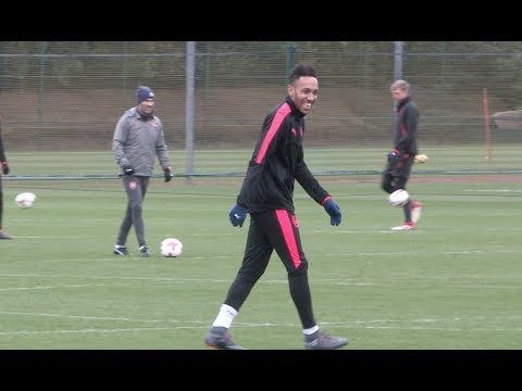 Auba and Mkhitaryan train with Arsenal squad ahead of Ostersunds