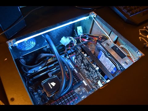Cold Cathode Light Installation: In Desk PC Lights