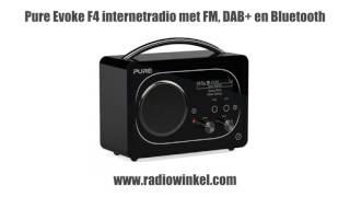 Pure Evoke F4 internetradio met FM, DAB+ en Bluetooth