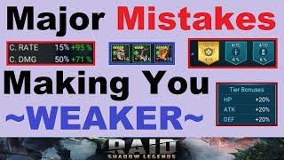 Major ~MISTAKES~ Making You *WEAKER* in Raid Shadow Legends