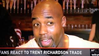 Trent Richardson trade reaction video from WKYC/WFNY