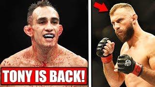 Tony Ferguson RETURNS vs Cowboy Cerrone at UFC 238, UFC 237 weigh-ins, Daniel Cormier