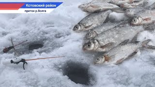 Зимняя рыбалка 2021 на озере около дома Рыбалка на мормышку