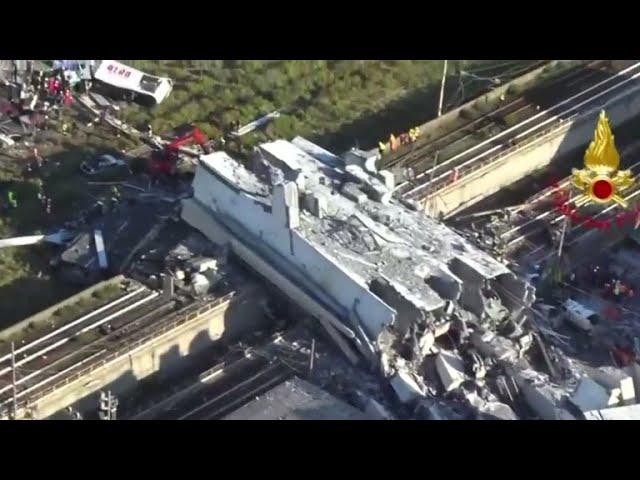 Italian bridge collapse survivor says she ran for her life