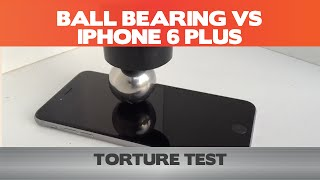 How high can we drop a 200g ball bearing on an iPhone 6 Plus?