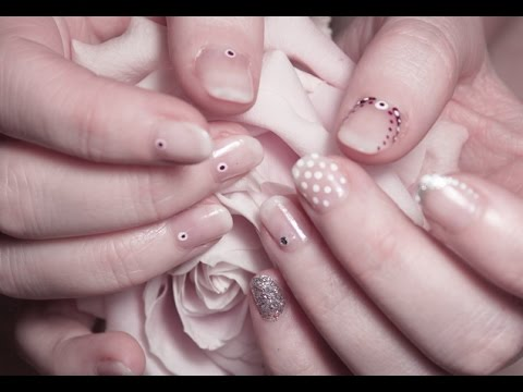 six simple bridal nail design