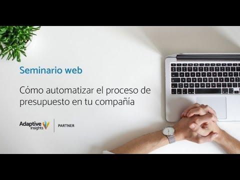 Seminario Web - Cómo automatizar el proceso de presupuesto en tu compañía