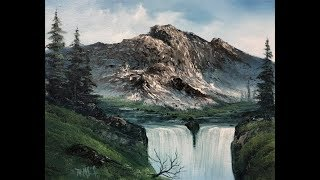 Magic Mountain Falls ( PWM Se:6 ep 1) wet on wet oil painting