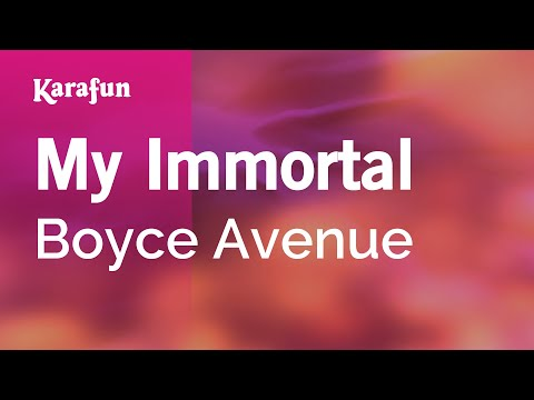 Karaoke My Immortal - Boyce Avenue *