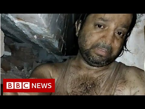 Mumbai collapse: The man who filmed his ordeal under rubble - BBC News