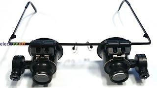 Бинокуляры 9892А-II. Увеличение в 20 раз ! Бинокулярные очки с подсветкой.(Большинство бинокуляров комплектуются набором сменных линз. Но есть модели такой оптики всего с двумя..., 2015-09-01T10:14:06.000Z)