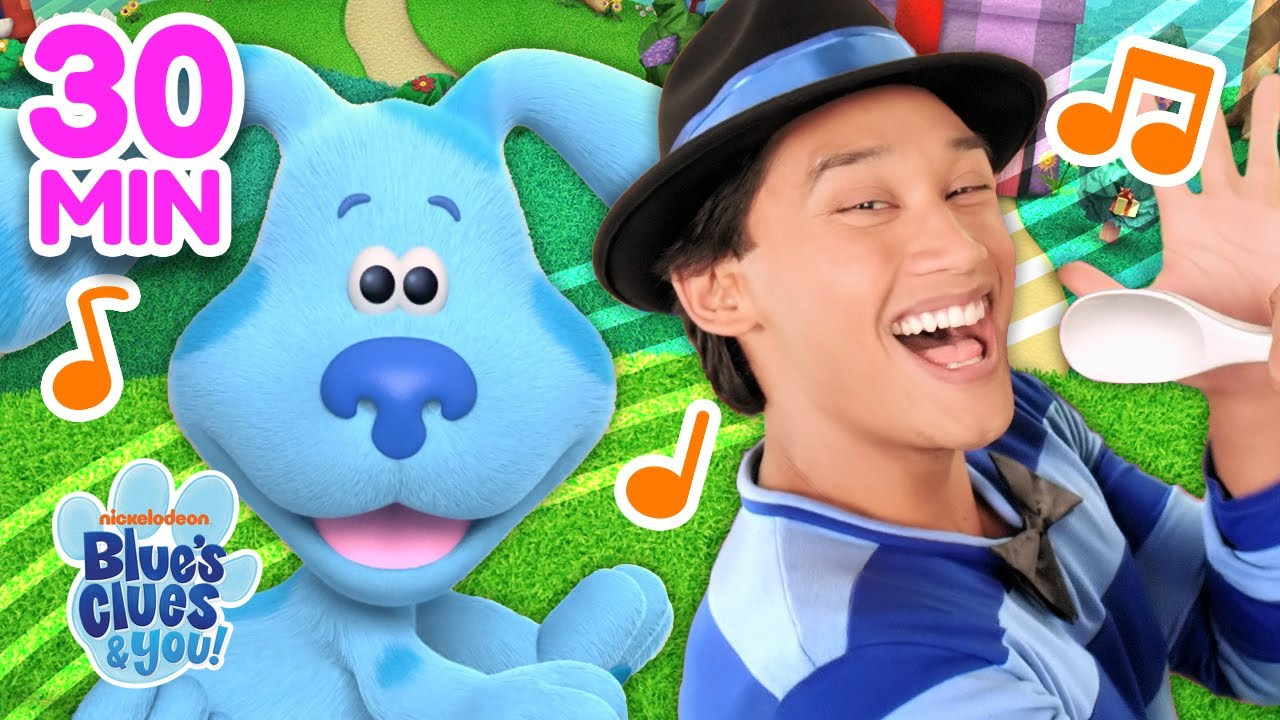 The BEST Blue's Clues Songs With Blue + Josh! 30 Minute Compilation | Blue's Clue's & You