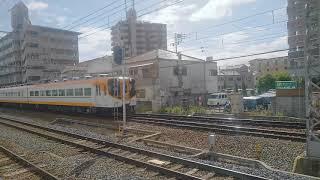 近鉄16000系Y08.51(4両)が、河内天美駅を通過しました。