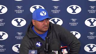 BYU Football - Media Availability - Kalani Sitake - November 4, 2019