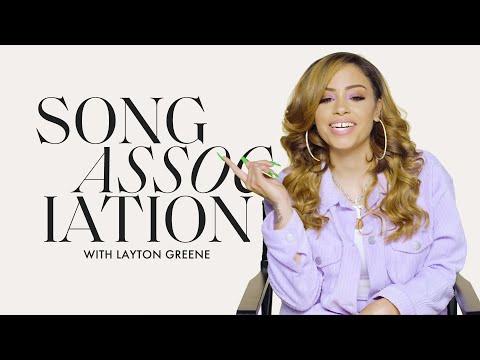Layton Greene Sings Keyshia Cole, Nicki Minaj and Migos in a Game of Song Association | ELLE