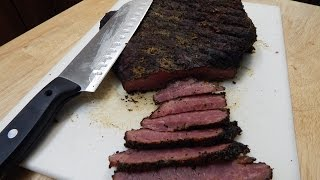 Smoked Corned Beef On The Weber  Grill | How To Make Pastrami