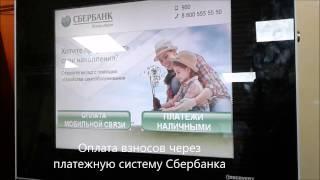 Видео инструкция по оплате взносов СНТ Бригантина-2 через терминал Сбербанка