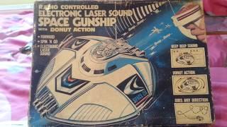 1980 radio controlled electronic laser sound space gunship ufo toy