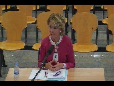 Declaración íntegra de Esperanza Aguirre ante el tribunal por la trama Gürtel