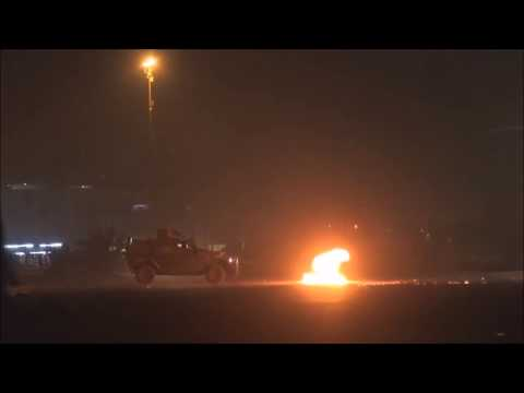 Bahrain : Youth Protesters Fight Riot Police APC So Hard And Defend Their Village