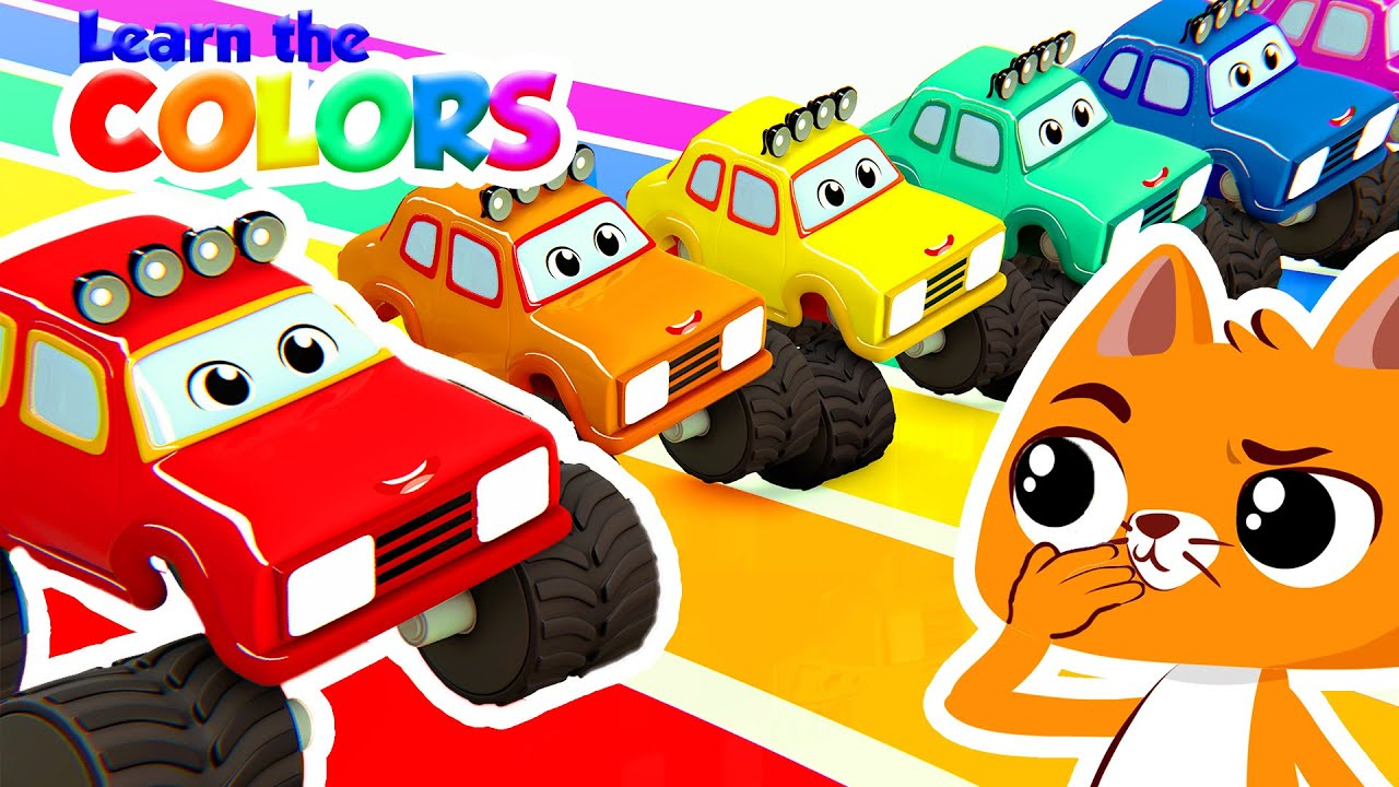NEW! 🚛 Learn the colors with Catty and the magic monster trucks | Superzoo