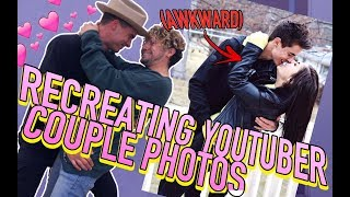 RE-CREATING AWKWARD YOUTUBER COUPLE PHOTOS