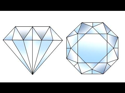 How To Draw Diamond Step By Step