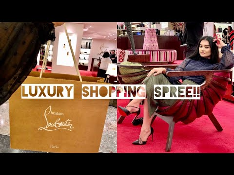 LUXURY SHOPPING SPREE IN LONDON VLOG Selfridges + Harrods Gucci, Christian Louboutin + MORE!