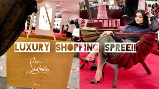 LUXURY SHOPPING SPREE IN LONDON VLOG Men's + Women's Gucci, Christian Louboutin + MORE!