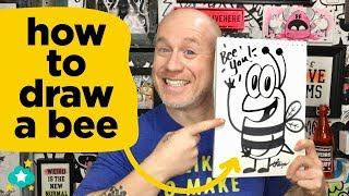 Hey Kids! How to Draw a Bee - Super Easy