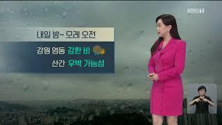 9시뉴스 강아랑기상캐스터 200923