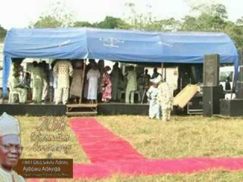 20th Coronation Anniversary Celebration of HRH Oba S.A.A.Adeyiga. Part 2A Travel Video