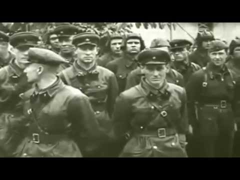 Joint Soviet-Nazi military parade in Poland. The history of Russian aggression.