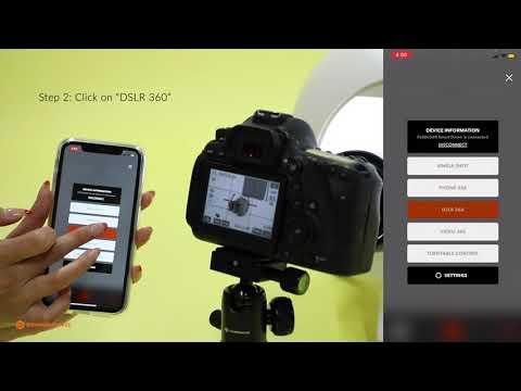 Foldio360 Smart Dome - How to Take Automatic DSLR 360