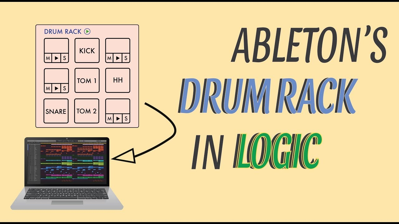 HOW TO USE: Ableton's DRUM RACK inside of LOGIC PRO X using REWIRE!