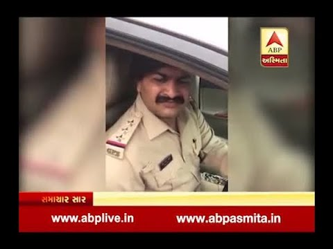 man Bad behavior with the police inspector in surat