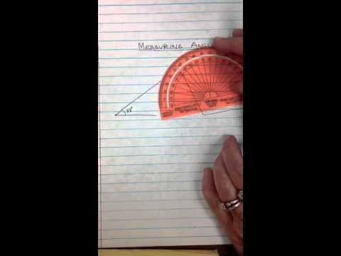 how to use a protractor to find angles
