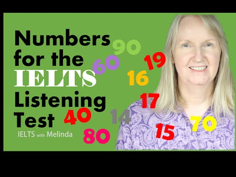 IELTS with Melinda - Numbers for the Listening Test