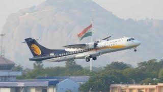 Jet Airways ATR arrives and departs Madurai - VT-JDC [4K]