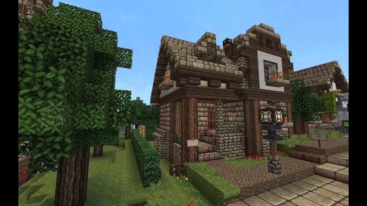 Lets Show Minecraft Bürgerliches Stadthaus Deutsch YouTube - Minecraft mittelalter haus bauen deutsch