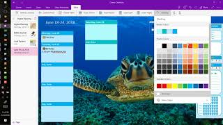 Freestyle Planning with OneNote